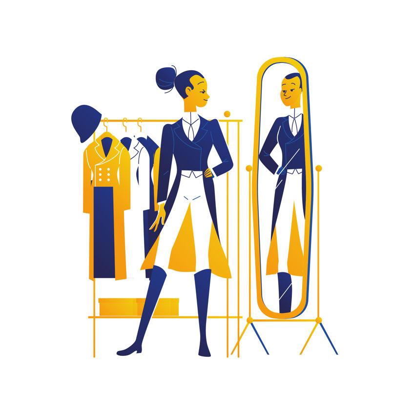 Steve-Scott-VISA-FEMALE-Dressage-JellyLondon-Illustration