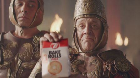 New Bake Rolls spot is a saga of swords, sandals and snacks