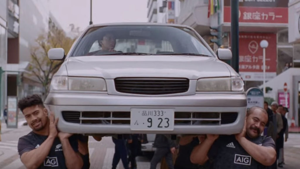 AIG and All Blacks deliver the don'ts of driving in Japan