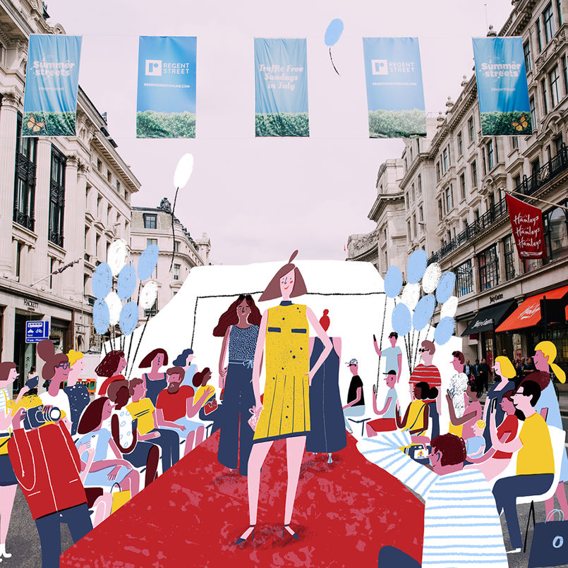 HannahWarren-RegentSt-Catwalk-JellyLondon-Illustration