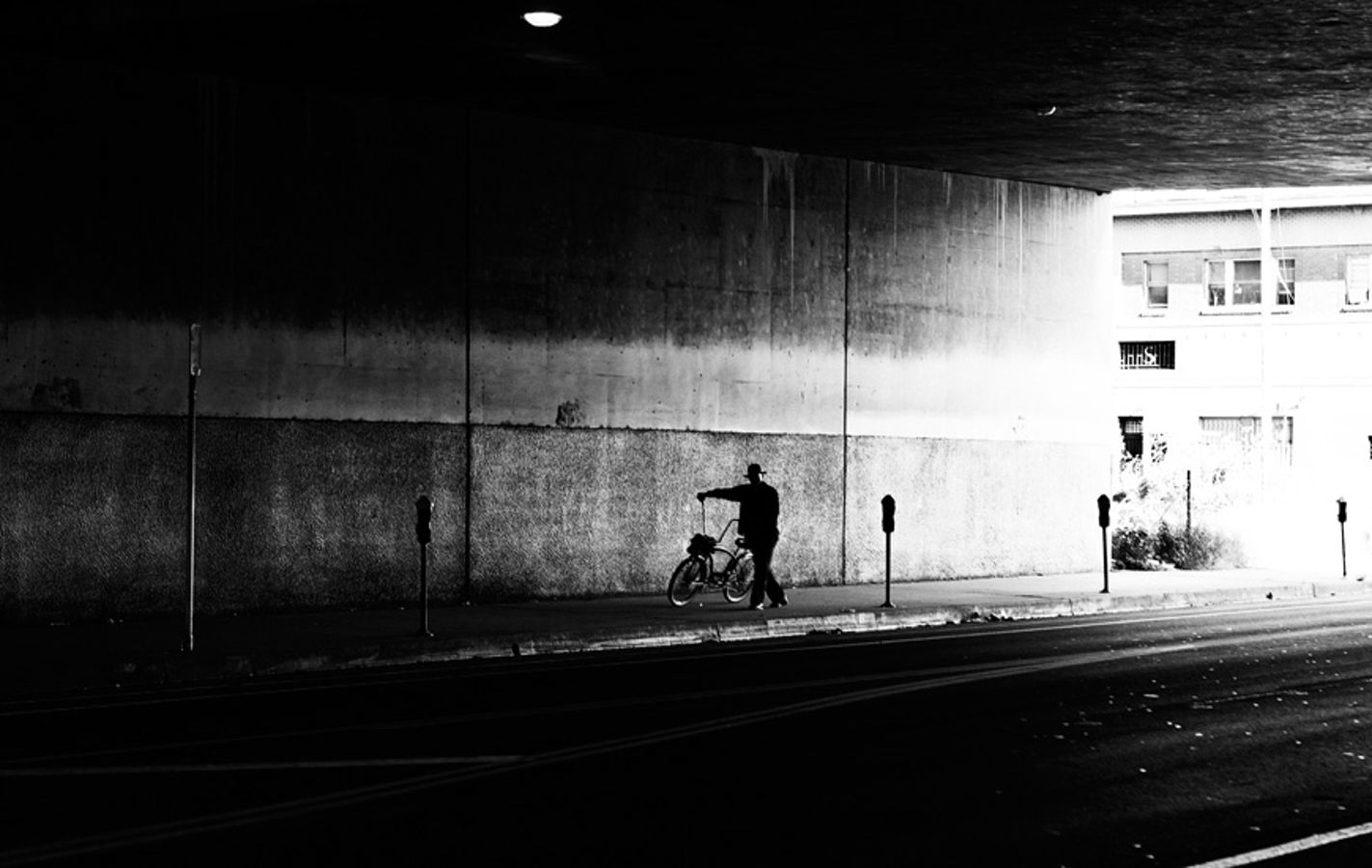 Cycle Under Bridge