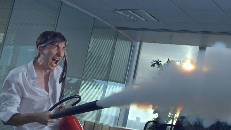 ANDY LAMBERT DIRECTS THE SUN WORLD CUP 'OFFICE KNOCKABOUT'