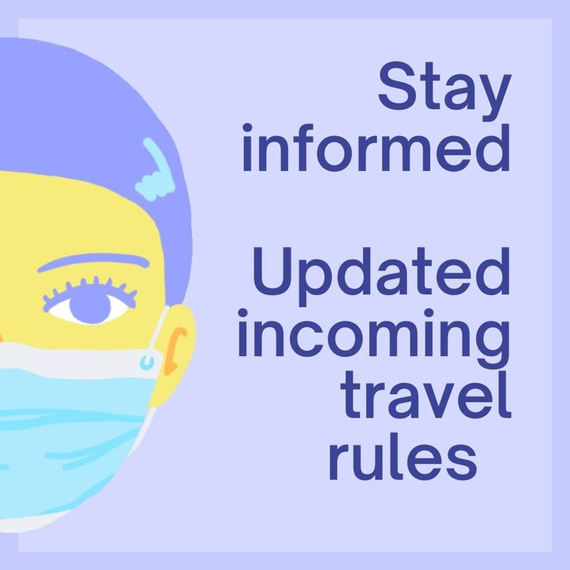 New Rules: Fully Vaccinated Incoming Travellers