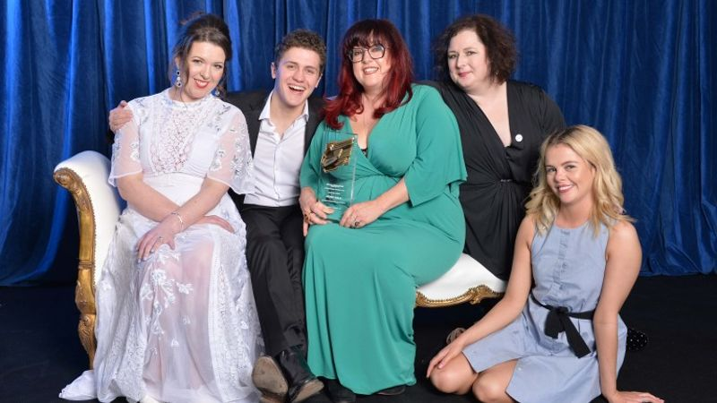 DERRY GIRLS AWARDED 'BEST COMEDY' AT THE ROYAL TELEVISION SOCIETY LAST NIGHT