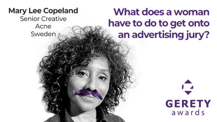 What does a woman have to do to get onto an advertising jury?